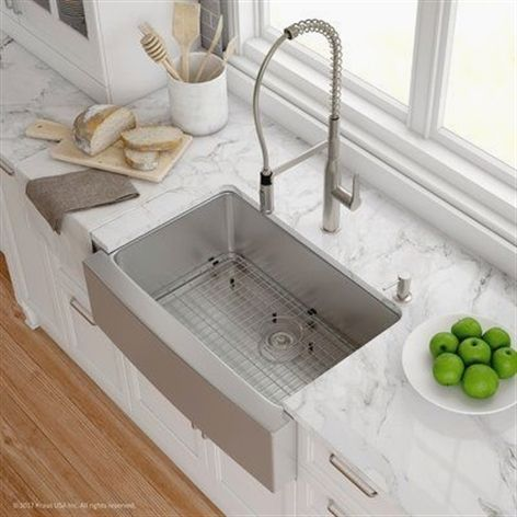 Making Your Home Look Nice With Great Interior Decorating Tips Farmhouse Sink Kitchen Stainless Steel Farmhouse Sink Apron Sink Kitchen
