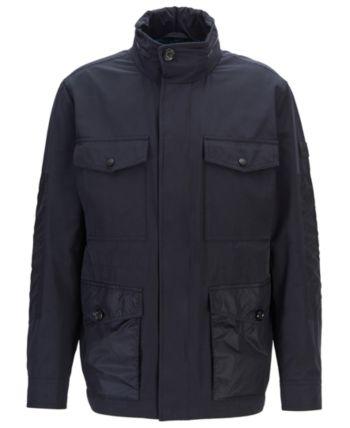 Hugo Boss Boss Men S Carpa Water Repellent Hooded Field Jacket Reviews Coats Jackets Men Macy S Field Jacket Hugo Boss Jackets