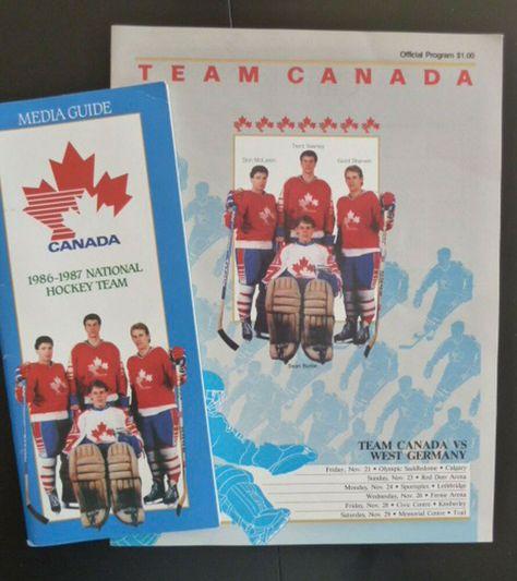 Team Canada v West Germany Official Program 1986 +87 National Hockey Media Guide #TeamCanada