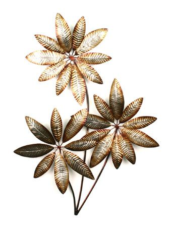 CONTEMPORARY U0027TRIPLE BRONZE FLOWERSu0027 METAL WALL ART | Bronze Wall Sculpture  | Pinterest | Metal Wall Art, Metal Walls And Wall Art Sculpture
