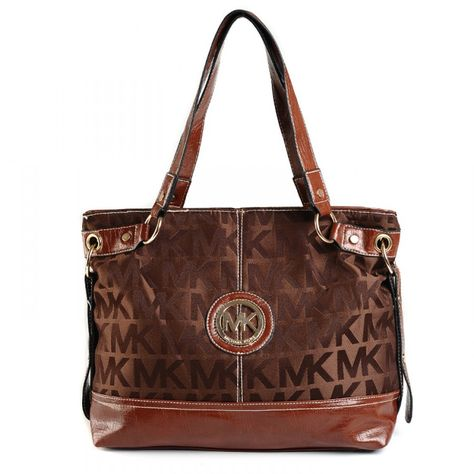 4fb70a6878e8 Michael Kors Jet Set Logo Zip Satchel Chocolate Crossbody Bags - logo  monogram mirror metallic with buff leather trim.-Rose golden hardware.