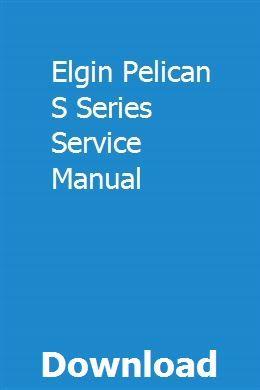 Elgin Pelican S Series Service Manual Nissan Pulsar Chilton Repair Manual Lamborghini Gallardo