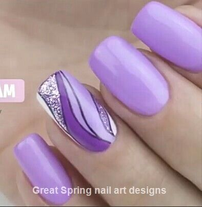20 Great Spring Nail Designs 2019 2020 Fresh Spring Nails Purple