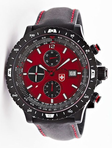 The new benchmark in professional pilot watches: HURRICANE 2118, red, professional limited edition: https://www.swiss-military.net/airforce