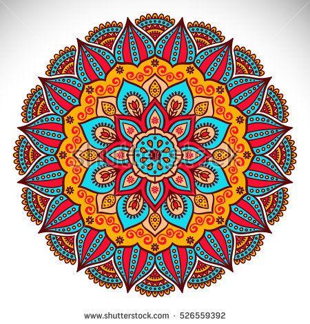 Vector Indian Mandala Mandala Art Pintura De Mandala Arte Fractal
