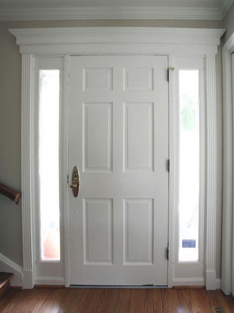 trim work above interior doors | Del Pizzo Construction, LLC - Trim work above and around existing door