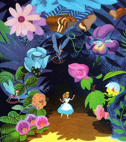 Walt Disney - Alice in Wonderland - Mary Blair - Concept Art Mary Blair, Disney Love, Disney Magic, Disney Parks, Walt Disney, Alice Disney, We All Mad Here, Chesire Cat, Tsumtsum