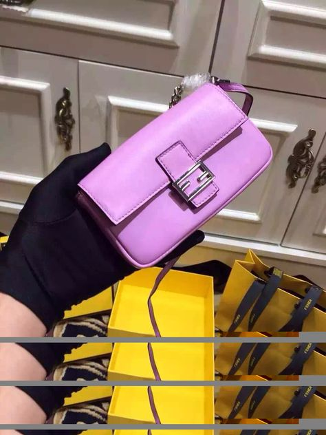 b738a3019550 Fendi Micro Calfskin Baguette Bag Purple