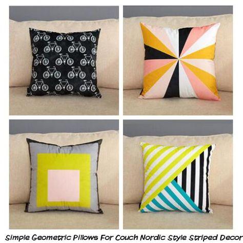 Striped Geometric Pillow Cushion