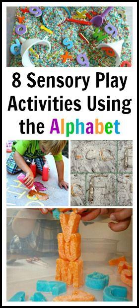 8 Sensory Play Activities Using the Alphabet
