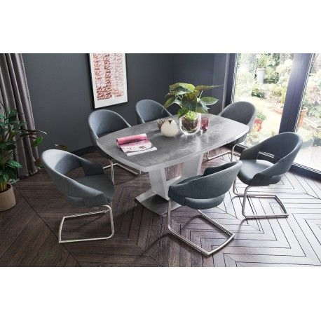 Lena Ceramic Grey Top Extendable Dining Table Extendable Dining Table Furniture Table