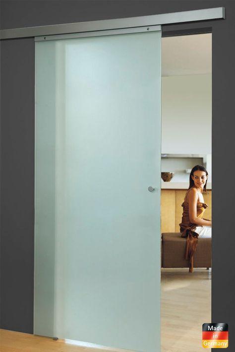 Glasschiebetur 880x2035mm Schiebetur Glastur Glas Tur Zimmertur