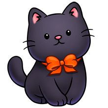 darling halloween kitty graphic