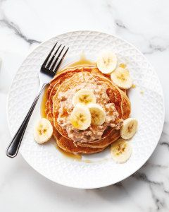 Banana And Peanut Butter Vegan Pancakes Aldi Uk Vegan Pancakes Peanut Butter Pancakes Whole Food Recipes