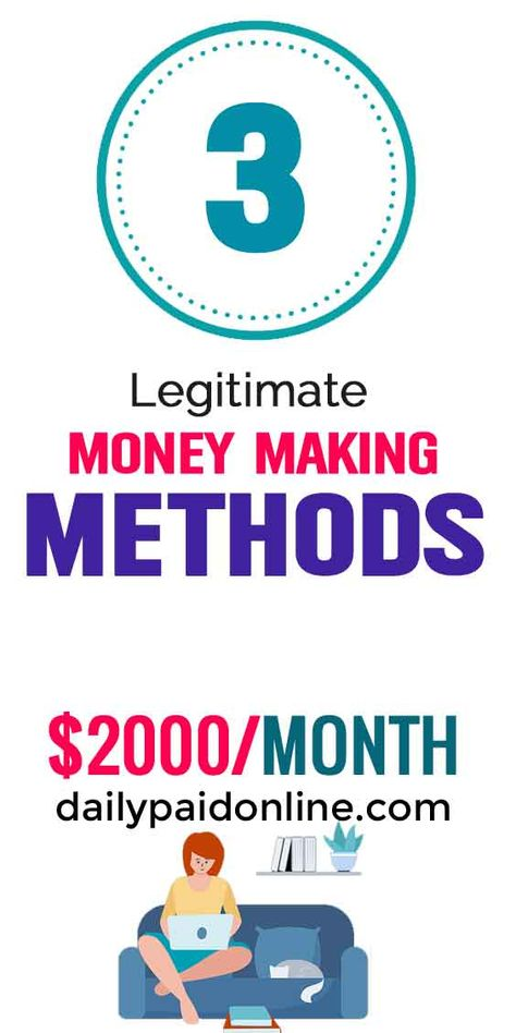 3 Genuine Money Making Methods Online - Make Upto $2000/Month