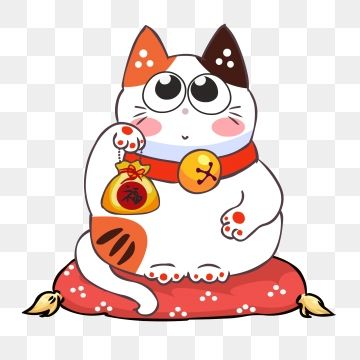 Hand Drawn Cartoon Cute Lucky Cat Material Cat Cute Lucky Cat Animal Png And Vector With Transparent Background For Free Download Lucky Cat Cat Vector How To Draw Hands