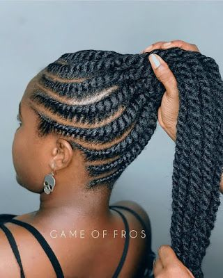 Stunning Ponytail Hairstyles For Black Hair You Need To Try Today Best African Fashion In 2020 Twist Ponytail African Braids Hairstyles African Hair Braiding Styles