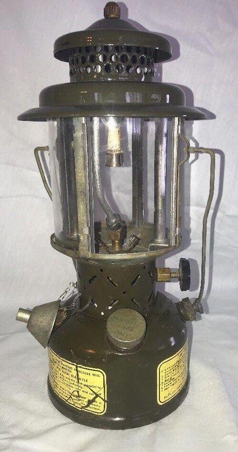 vintage Coleman dual fuel powerhouse gas lantern camping