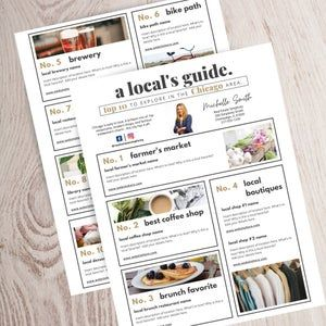 Real Estate Local Guide Template, Welcome guide, City guide flyer, Realtor community newsletter, Real estate marketing, Customize, Canva