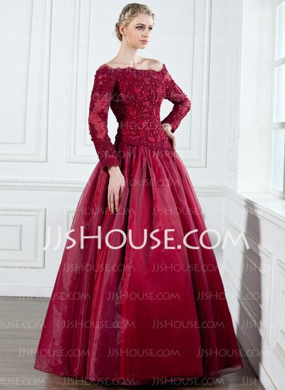 Mother of the Bride Dresses - $158.99 - A-Line/Princess Off-the-Shoulder Floor-Length Organza Satin Mother of the Bride Dress With Lace Beading (008002222) http://jjshouse.com/A-Line-Princess-Off-The-Shoulder-Floor-Length-Organza-Satin-Mother-Of-The-Bride-Dress-With-Lace-Beading-008002222-g2222