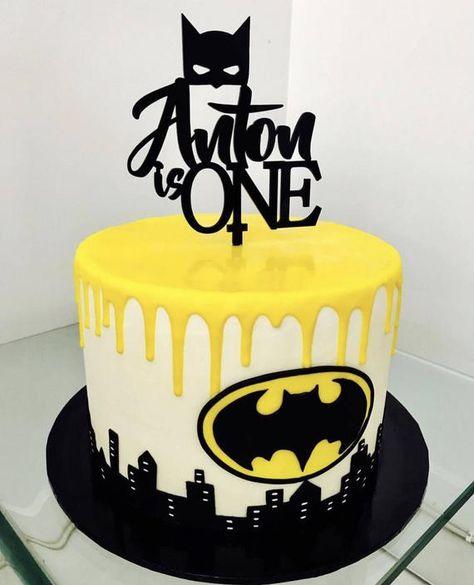 Personalised Birthday Cake Topper with batman mask Personalisierte Geburtstagstorte Topper mit Batman Cake Pops, Lego Batman Cakes, Batman Cake Topper, Batman Birthday Cakes, 1st Birthday Cake Topper, Superhero Cake, Batman Party, Birthday Cake Kids Boys, Cake Designs