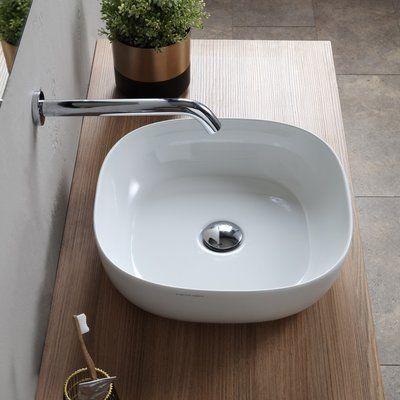 Scarabeo By Nameeks Specialty Ceramic Vessel Bathroom Sink With Overflow Square Bathroom Sink Bathroom