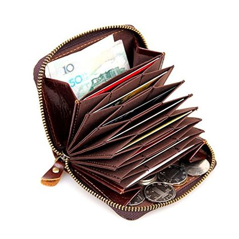 Mala Leather Origin RFID Trifold Purse with Large Coin Tray Credit Card Notes ID