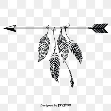 Simple Retro Arrow Elements With Black Feathers Lovely Bohemian Simplicity Png Transparent Clipart Image And Psd File For Free Download Black Feathers Black And White Sketches Watercolor Feather