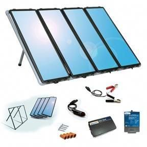 The Solar System Components This 60 Watt Solar Panel Charging Kit With Charge Controller Inverter Gives You Several Mo Solar Kit Solar Panels Solar Charging