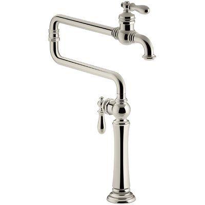 Kohler Artifacts Single Hole Deck Mount Pot Filler With Extended Spout Kohler Artifacts Pot Filler Sink Faucets