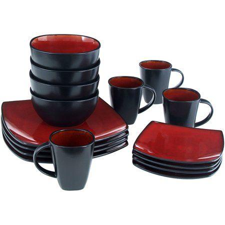 Home Square Dinnerware Set Soho Lounge Red Dinnerware