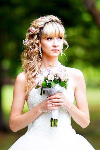 Brautfrisur Mit Pony Bildergalerie Mit Hubschen Inspirationen Brautfrisur Frisur Braut Brautfrisur Mit Pony