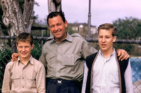 William Holden with sons Scott and Peter 1960's