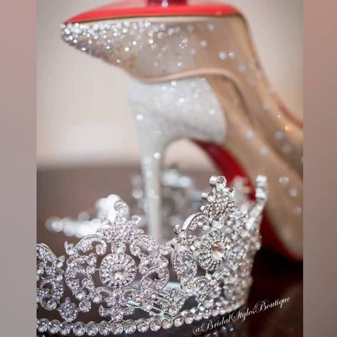 2d454ef48a0e Stunning regal tiara by Bridal Styles Boutique and dazzling stilettos by  Louboutin! What a match in heaven!! 👑👠