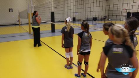 Setting Footwork For Young Players The Art Of Coaching Volleyball Volleyball Training Coaching Volleyball Volleyball Drills For Beginners