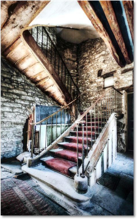 The Stairs On Glass Wall Art is an eye-catching piece that's perfect for any room within your home. Architecture Drawings, Amazing Architecture, Architecture Design, Glass Wall Art, Wall Art Decor, Abandoned Houses, Abandoned Places, Future House, My House
