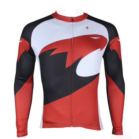 0daec3ebf Hot Sale Outdoor Cycling Clothing White and Red Cycling Jersey Wholesale  Men s Long-sleeved Jersey for Spring and Summer Red