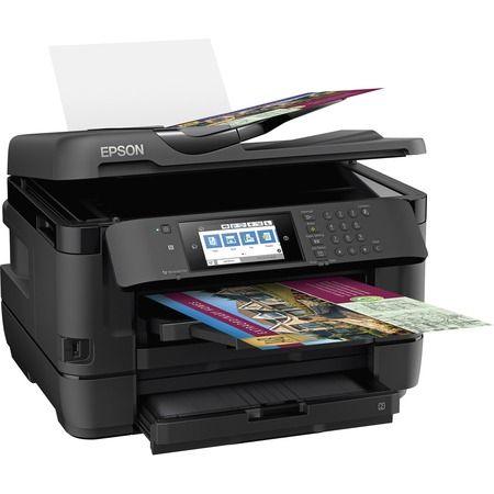 Epson Workforce Wf 7720 Inkjet Multifunction Printer Color In 2021 Multifunction Printer Printer Scanner Inkjet Printer