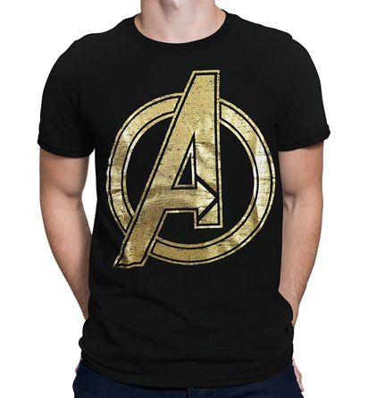 Avengers Infinity War T Shirt A Logo Iron Man Hulk MCU Marvel Fans Gift Men Top