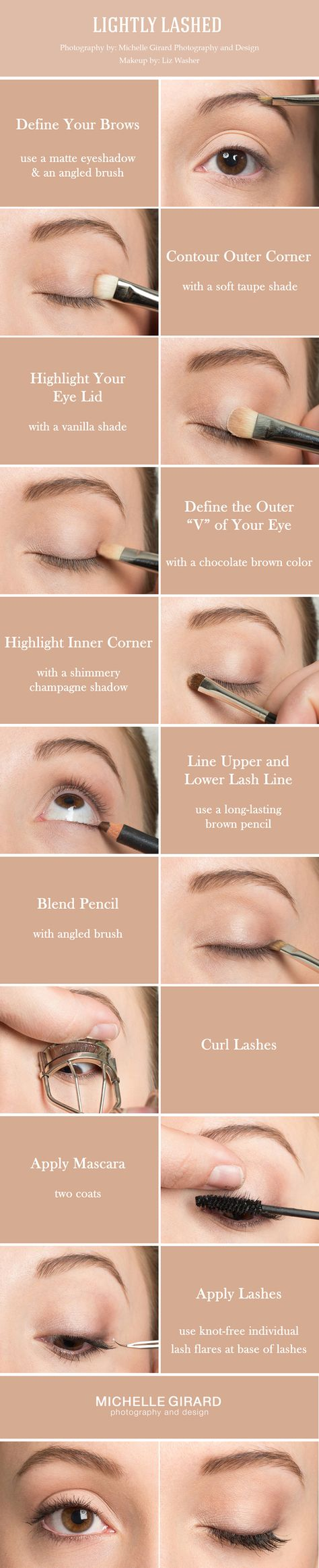 Clean, Natural Makeup Tutorial with Lovely Lashes :: Inspired by Shailene Woodley :: As seen on Style Me Pretty :: Liz Washer Makeup :: Michelle Girard Photography Design More here....... https://www.youtube.com/watch?v=nbXe3mOcx5g #makeup #makeupartist #makeupbrushes #eye