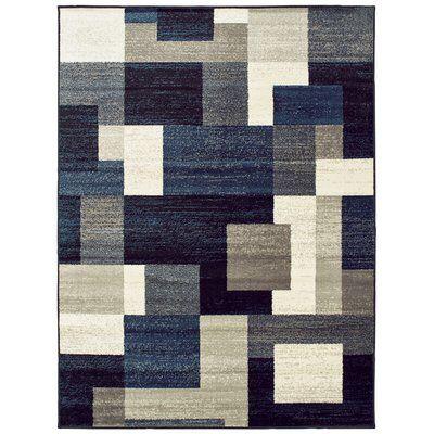 Taira Block Multi Color Area Rug Rugs Blue
