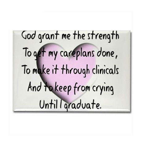 This pin was selected to provide visual humor and encouragement to the Nursing student, while studying.