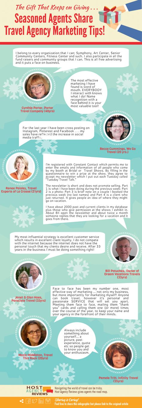 Seasoned Agents Share Travel Agency Marketing Tips: An Infographic