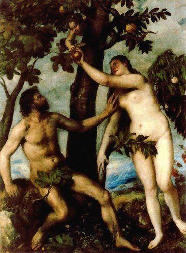 1 Adán Y Eva Tiziano Adan Y Eva Museo Nacional Del Prado Museo Del Prado Madrid