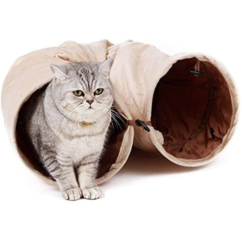 Pawz Road Cat Tunnel Kitty Play Toys For Cats Hamster Ferret Rabbit In Beige More Info Could Be Found At The Image Url This Cat Tunnel Cat Fleas Long Cat