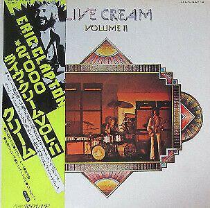 Cream Live Cream Volume Ii Vinyl Lp Japanese Obi Insert Vinyl Japanese Blues Rock
