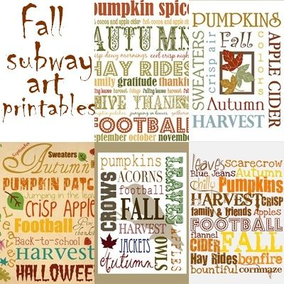 Fall Subway Art