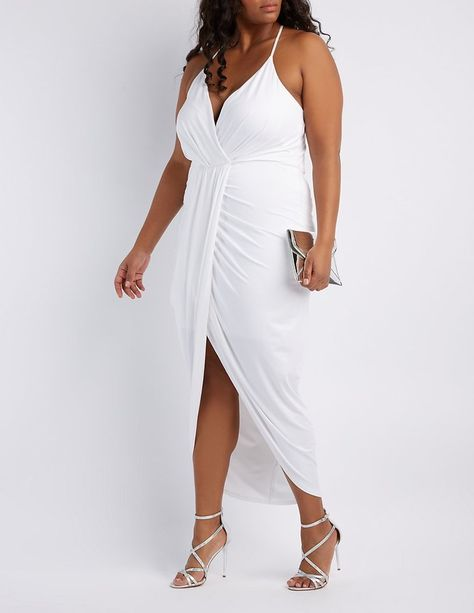 07d75f1bab0 Charlotte Russe Plus Size Surplice Tulip Maxi Dress