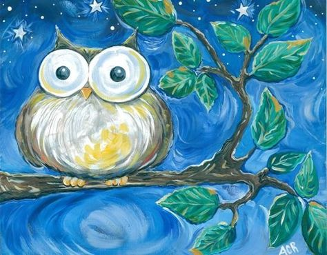 Items similar to Night Owl Fine Art Print- owl on a tree branch on Etsy