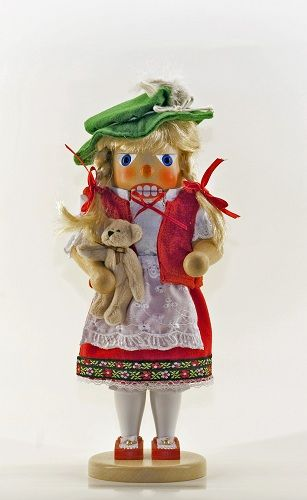 Heidi Girl German Wooden Christmas Nutcracker